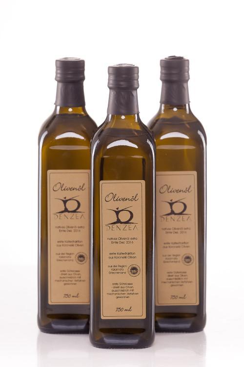 3 x 750 ml Denzel Olivenöl