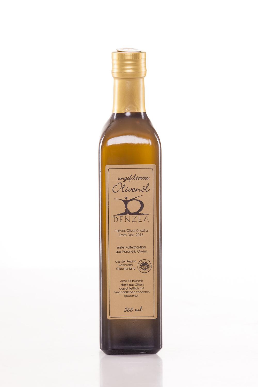 500 ml ungefiltertes Olivenöl Denzel