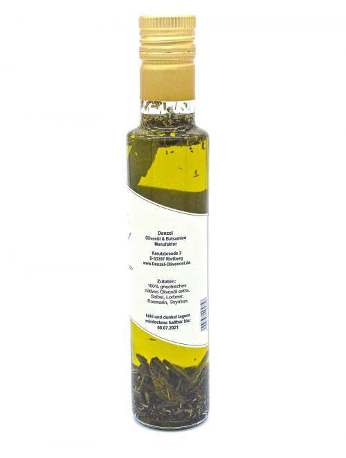 Denzel Olivenöl 4 Kräuter Zutaten