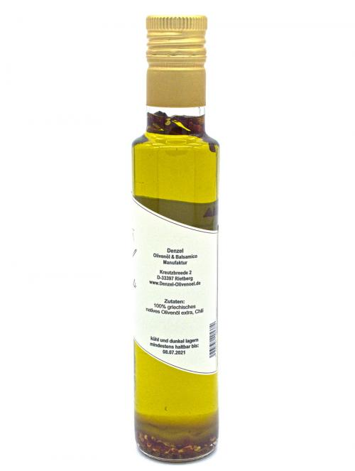Denzel Olivenöl Chili Zutaten