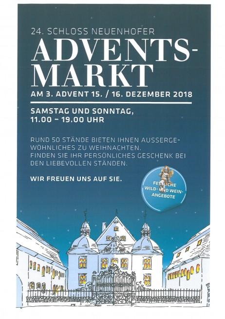 Adventsmarkt Schloß Neuenhof