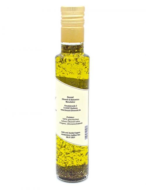 Denzel Olivenöl Oregano Zutaten